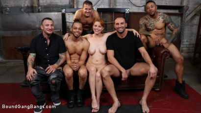 Photo number 19 from Redhead Real Estate Agent Penny Pax Tied Up & Pounded by 5 Huge Cocks shot for Bound Gang Bangs on Kink.com. Featuring Penny Pax, Donny Sins, Eddie Jaye, Stirling Cooper , Mr. Pete and Codey Steele in hardcore BDSM & Fetish porn.