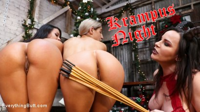 Krampus Night: Abella Danger and Luna Star Get Their Asses Punished