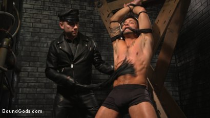 Photo number 1 from A Hard Place: Casey Everett Tormented And Fucked In Full Suspension shot for Bound Gods on Kink.com. Featuring Sebastian Keys and Casey Everett in hardcore BDSM & Fetish porn.