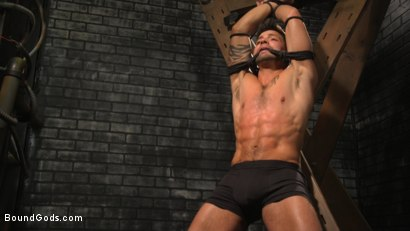 Photo number 2 from A Hard Place: Casey Everett Tormented And Fucked In Full Suspension shot for Bound Gods on Kink.com. Featuring Sebastian Keys and Casey Everett in hardcore BDSM & Fetish porn.