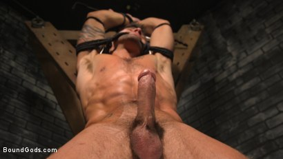 Photo number 11 from A Hard Place: Casey Everett Tormented And Fucked In Full Suspension shot for Bound Gods on Kink.com. Featuring Sebastian Keys and Casey Everett in hardcore BDSM & Fetish porn.