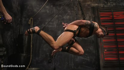 Photo number 14 from A Hard Place: Casey Everett Tormented And Fucked In Full Suspension shot for Bound Gods on Kink.com. Featuring Sebastian Keys and Casey Everett in hardcore BDSM & Fetish porn.