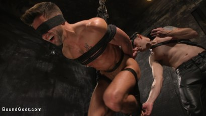 Photo number 15 from A Hard Place: Casey Everett Tormented And Fucked In Full Suspension shot for Bound Gods on Kink.com. Featuring Sebastian Keys and Casey Everett in hardcore BDSM & Fetish porn.
