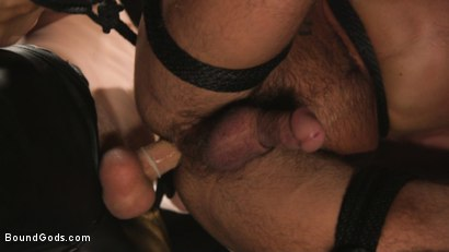 Photo number 21 from A Hard Place: Casey Everett Tormented And Fucked In Full Suspension shot for Bound Gods on Kink.com. Featuring Sebastian Keys and Casey Everett in hardcore BDSM & Fetish porn.