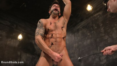 Photo number 22 from A Hard Place: Casey Everett Tormented And Fucked In Full Suspension shot for Bound Gods on Kink.com. Featuring Sebastian Keys and Casey Everett in hardcore BDSM & Fetish porn.