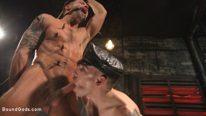 Photo number 25 from A Hard Place: Casey Everett Tormented And Fucked In Full Suspension shot for Bound Gods on Kink.com. Featuring Sebastian Keys and Casey Everett in hardcore BDSM & Fetish porn.