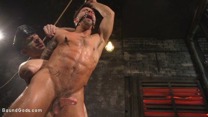 Photo number 27 from A Hard Place: Casey Everett Tormented And Fucked In Full Suspension shot for Bound Gods on Kink.com. Featuring Sebastian Keys and Casey Everett in hardcore BDSM & Fetish porn.
