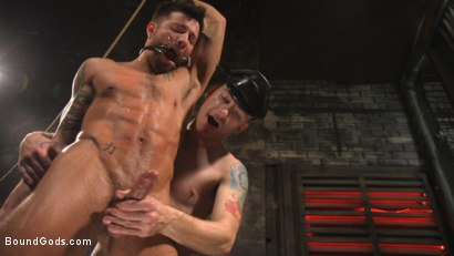 Photo number 28 from A Hard Place: Casey Everett Tormented And Fucked In Full Suspension shot for Bound Gods on Kink.com. Featuring Sebastian Keys and Casey Everett in hardcore BDSM & Fetish porn.