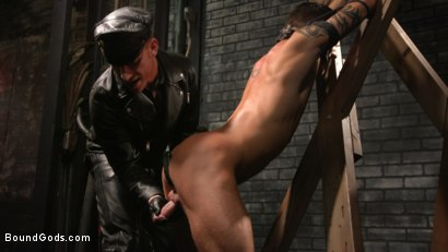 Photo number 6 from A Hard Place: Casey Everett Tormented And Fucked In Full Suspension shot for Bound Gods on Kink.com. Featuring Sebastian Keys and Casey Everett in hardcore BDSM & Fetish porn.