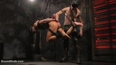 Photo number 13 from A Hard Place: Casey Everett Tormented And Fucked In Full Suspension shot for Bound Gods on Kink.com. Featuring Sebastian Keys and Casey Everett in hardcore BDSM & Fetish porn.