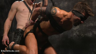 Photo number 19 from A Hard Place: Casey Everett Tormented And Fucked In Full Suspension shot for Bound Gods on Kink.com. Featuring Sebastian Keys and Casey Everett in hardcore BDSM & Fetish porn.