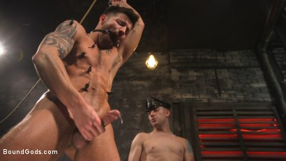 Photo number 23 from A Hard Place: Casey Everett Tormented And Fucked In Full Suspension shot for Bound Gods on Kink.com. Featuring Sebastian Keys and Casey Everett in hardcore BDSM & Fetish porn.