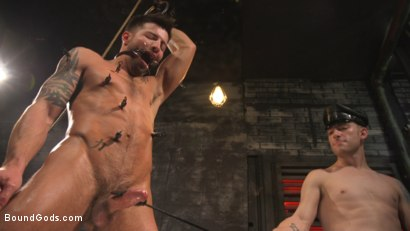 Photo number 24 from A Hard Place: Casey Everett Tormented And Fucked In Full Suspension shot for Bound Gods on Kink.com. Featuring Sebastian Keys and Casey Everett in hardcore BDSM & Fetish porn.