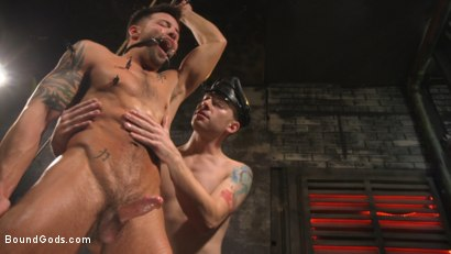 Photo number 26 from A Hard Place: Casey Everett Tormented And Fucked In Full Suspension shot for Bound Gods on Kink.com. Featuring Sebastian Keys and Casey Everett in hardcore BDSM & Fetish porn.