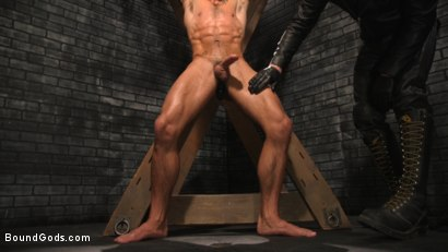 Photo number 8 from A Hard Place: Casey Everett Tormented And Fucked In Full Suspension shot for Bound Gods on Kink.com. Featuring Sebastian Keys and Casey Everett in hardcore BDSM & Fetish porn.
