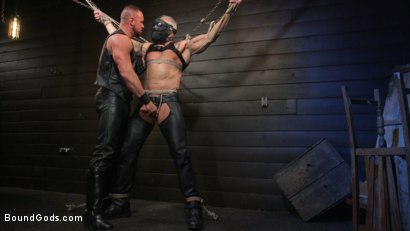 Photo number 1 from Serve Your Master: Michael Roman Shows Dallas Steele Who's In Charge shot for Bound Gods on Kink.com. Featuring Michael Roman  and Dallas Steele in hardcore BDSM & Fetish porn.