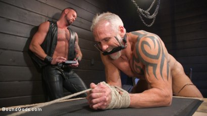 Photo number 13 from Serve Your Master: Michael Roman Shows Dallas Steele Who's In Charge shot for Bound Gods on Kink.com. Featuring Michael Roman  and Dallas Steele in hardcore BDSM & Fetish porn.