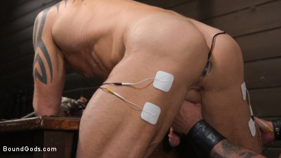 Photo number 14 from Serve Your Master: Michael Roman Shows Dallas Steele Who's In Charge shot for Bound Gods on Kink.com. Featuring Michael Roman  and Dallas Steele in hardcore BDSM & Fetish porn.