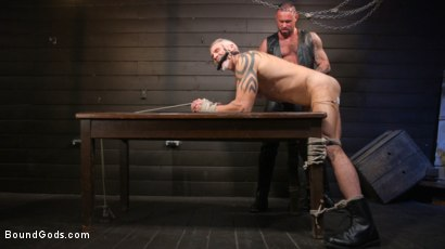 Photo number 15 from Serve Your Master: Michael Roman Shows Dallas Steele Who's In Charge shot for Bound Gods on Kink.com. Featuring Michael Roman  and Dallas Steele in hardcore BDSM & Fetish porn.