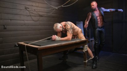 Photo number 17 from Serve Your Master: Michael Roman Shows Dallas Steele Who's In Charge shot for Bound Gods on Kink.com. Featuring Michael Roman  and Dallas Steele in hardcore BDSM & Fetish porn.