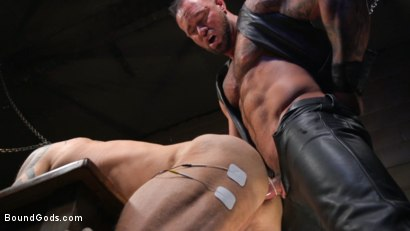 Photo number 18 from Serve Your Master: Michael Roman Shows Dallas Steele Who's In Charge shot for Bound Gods on Kink.com. Featuring Michael Roman  and Dallas Steele in hardcore BDSM & Fetish porn.