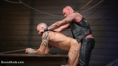Photo number 19 from Serve Your Master: Michael Roman Shows Dallas Steele Who's In Charge shot for Bound Gods on Kink.com. Featuring Michael Roman  and Dallas Steele in hardcore BDSM & Fetish porn.