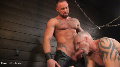 Photo number 22 from Serve Your Master: Michael Roman Shows Dallas Steele Who's In Charge shot for Bound Gods on Kink.com. Featuring Michael Roman  and Dallas Steele in hardcore BDSM & Fetish porn.