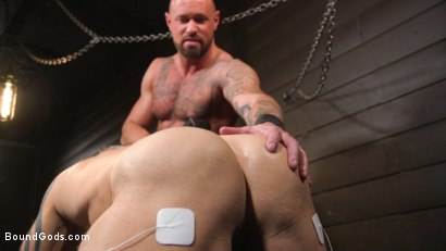 Photo number 23 from Serve Your Master: Michael Roman Shows Dallas Steele Who's In Charge shot for Bound Gods on Kink.com. Featuring Michael Roman  and Dallas Steele in hardcore BDSM & Fetish porn.