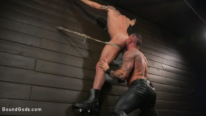 Photo number 25 from Serve Your Master: Michael Roman Shows Dallas Steele Who's In Charge shot for Bound Gods on Kink.com. Featuring Michael Roman  and Dallas Steele in hardcore BDSM & Fetish porn.