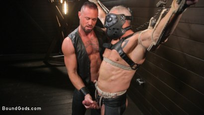Photo number 4 from Serve Your Master: Michael Roman Shows Dallas Steele Who's In Charge shot for Bound Gods on Kink.com. Featuring Michael Roman  and Dallas Steele in hardcore BDSM & Fetish porn.