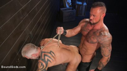 Photo number 31 from Serve Your Master: Michael Roman Shows Dallas Steele Who's In Charge shot for Bound Gods on Kink.com. Featuring Michael Roman  and Dallas Steele in hardcore BDSM & Fetish porn.