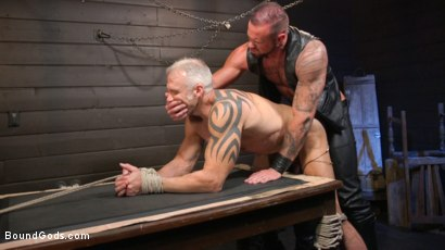 Photo number 21 from Serve Your Master: Michael Roman Shows Dallas Steele Who's In Charge shot for Bound Gods on Kink.com. Featuring Michael Roman  and Dallas Steele in hardcore BDSM & Fetish porn.