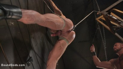 Photo number 28 from Serve Your Master: Michael Roman Shows Dallas Steele Who's In Charge shot for Bound Gods on Kink.com. Featuring Michael Roman  and Dallas Steele in hardcore BDSM & Fetish porn.