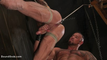 Photo number 29 from Serve Your Master: Michael Roman Shows Dallas Steele Who's In Charge shot for Bound Gods on Kink.com. Featuring Michael Roman  and Dallas Steele in hardcore BDSM & Fetish porn.