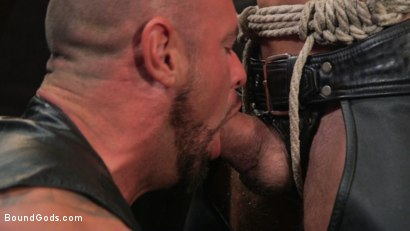 Photo number 5 from Serve Your Master: Michael Roman Shows Dallas Steele Who's In Charge shot for Bound Gods on Kink.com. Featuring Michael Roman  and Dallas Steele in hardcore BDSM & Fetish porn.