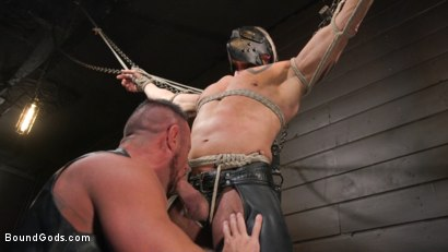 Photo number 6 from Serve Your Master: Michael Roman Shows Dallas Steele Who's In Charge shot for Bound Gods on Kink.com. Featuring Michael Roman  and Dallas Steele in hardcore BDSM & Fetish porn.