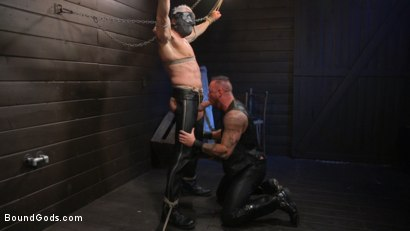 Photo number 7 from Serve Your Master: Michael Roman Shows Dallas Steele Who's In Charge shot for Bound Gods on Kink.com. Featuring Michael Roman  and Dallas Steele in hardcore BDSM & Fetish porn.