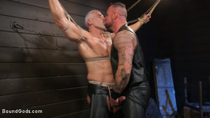 Photo number 9 from Serve Your Master: Michael Roman Shows Dallas Steele Who's In Charge shot for Bound Gods on Kink.com. Featuring Michael Roman  and Dallas Steele in hardcore BDSM & Fetish porn.