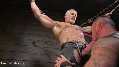 Photo number 10 from Serve Your Master: Michael Roman Shows Dallas Steele Who's In Charge shot for Bound Gods on Kink.com. Featuring Michael Roman  and Dallas Steele in hardcore BDSM & Fetish porn.