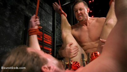 Photo number 10 from Straight Stud Bound & Terrorized to Relive HOLIDAY HORROR Abduction shot for Bound Gods on Kink.com. Featuring Pierce Paris and Kip Johnson in hardcore BDSM & Fetish porn.
