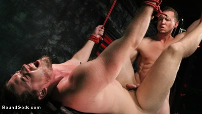 Photo number 12 from Straight Stud Bound & Terrorized to Relive HOLIDAY HORROR Abduction shot for Bound Gods on Kink.com. Featuring Pierce Paris and Kip Johnson in hardcore BDSM & Fetish porn.