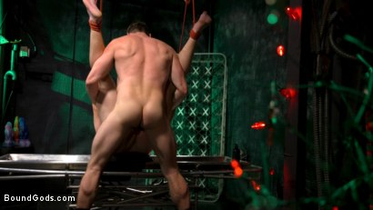 Photo number 13 from Straight Stud Bound & Terrorized to Relive HOLIDAY HORROR Abduction shot for Bound Gods on Kink.com. Featuring Pierce Paris and Kip Johnson in hardcore BDSM & Fetish porn.