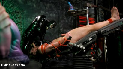 Photo number 5 from Straight Stud Bound & Terrorized to Relive HOLIDAY HORROR Abduction shot for Bound Gods on Kink.com. Featuring Pierce Paris and Kip Johnson in hardcore BDSM & Fetish porn.
