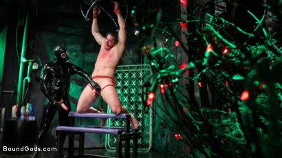 Photo number 7 from Straight Stud Bound & Terrorized to Relive HOLIDAY HORROR Abduction shot for Bound Gods on Kink.com. Featuring Pierce Paris and Kip Johnson in hardcore BDSM & Fetish porn.