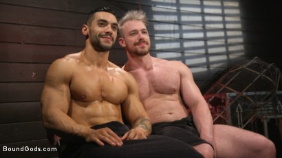Photo number 17 from Heavy Handed: Arad Winwin Flogs, Fucks and Fists Blake Hunter shot for Bound Gods on Kink.com. Featuring Arad Winwin and Blake Hunter in hardcore BDSM & Fetish porn.