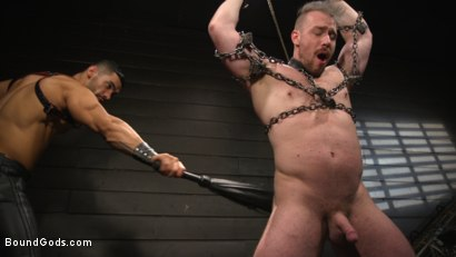 Photo number 3 from Heavy Handed: Arad Winwin Flogs, Fucks and Fists Blake Hunter shot for Bound Gods on Kink.com. Featuring Arad Winwin and Blake Hunter in hardcore BDSM & Fetish porn.