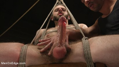Photo number 13 from William Crown Gets His Big Hard Dick Choked And Edged shot for Men On Edge on Kink.com. Featuring William Crown in hardcore BDSM & Fetish porn.