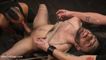 Photo number 6 from William Crown Gets His Big Hard Dick Choked And Edged shot for Men On Edge on Kink.com. Featuring William Crown in hardcore BDSM & Fetish porn.