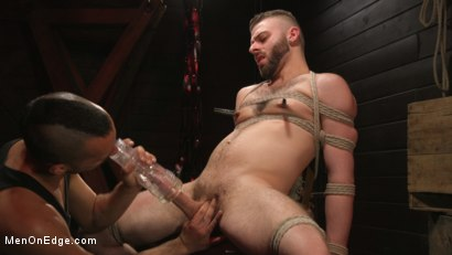 Photo number 7 from William Crown Gets His Big Hard Dick Choked And Edged shot for Men On Edge on Kink.com. Featuring William Crown in hardcore BDSM & Fetish porn.