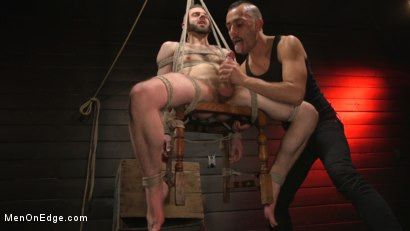 Photo number 14 from William Crown Gets His Big Hard Dick Choked And Edged shot for Men On Edge on Kink.com. Featuring William Crown in hardcore BDSM & Fetish porn.